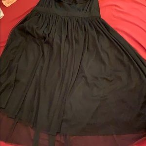 Black tulle skirt dress